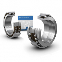 Angular contact thrust ball bearings for screw drives, double direction, super-precision
